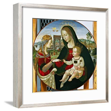 The Mystic Marriage of St. Catherine, 1502-03-Baldassarre Peruzzi-Framed Art Print