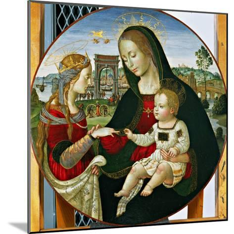 The Mystic Marriage of St. Catherine, 1502-03-Baldassarre Peruzzi-Mounted Giclee Print
