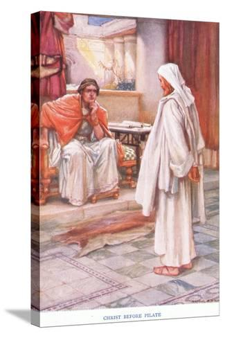 Christ before Pilate-Arthur A^ Dixon-Stretched Canvas Print