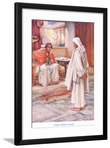 Christ before Pilate-Arthur A^ Dixon-Framed Art Print