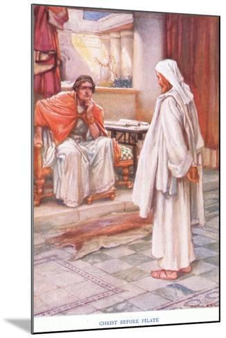 Christ before Pilate-Arthur A^ Dixon-Mounted Giclee Print