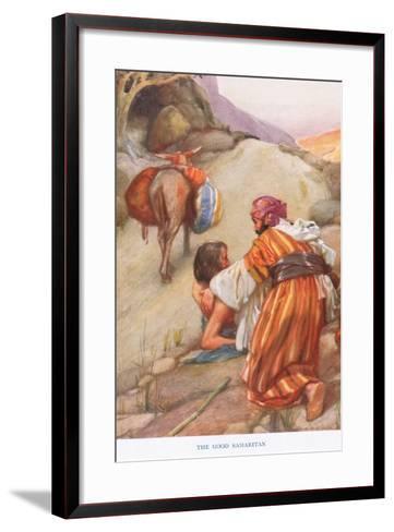 The Good Samaritan-Arthur A^ Dixon-Framed Art Print