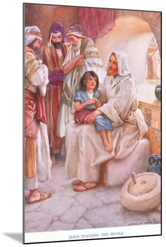 Jesus Teaching the People-Arthur A^ Dixon-Mounted Giclee Print