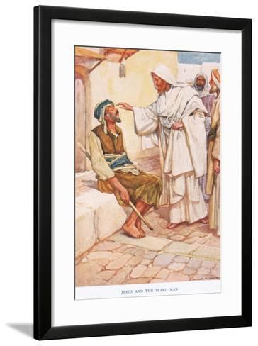 Jesus and the Blind Man-Arthur A^ Dixon-Framed Art Print