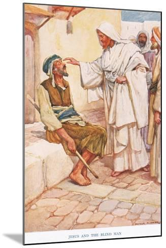 Jesus and the Blind Man-Arthur A^ Dixon-Mounted Giclee Print