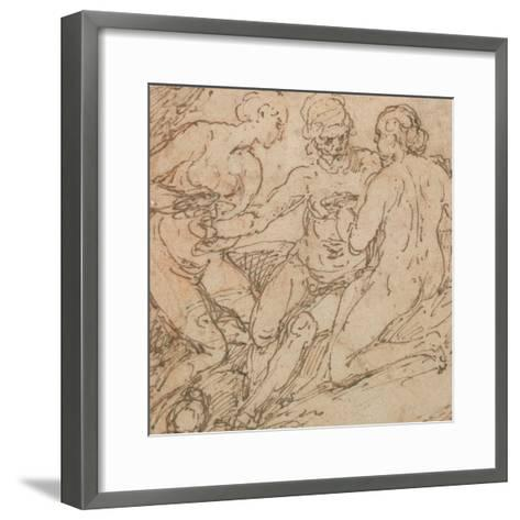 Lot and His Daughters-Alessandro Turchi-Framed Art Print