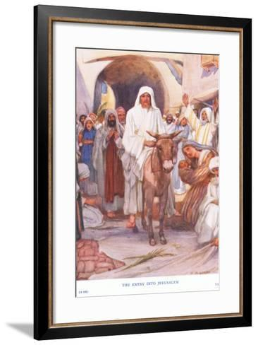 The Entry into Jerusalem-Arthur A^ Dixon-Framed Art Print