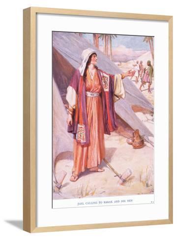 Jael Calling to Barak and His Men-Arthur A^ Dixon-Framed Art Print