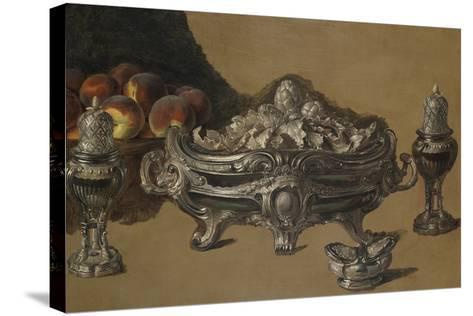 The Silver Bowl-Alexandre-Francois Desportes-Stretched Canvas Print