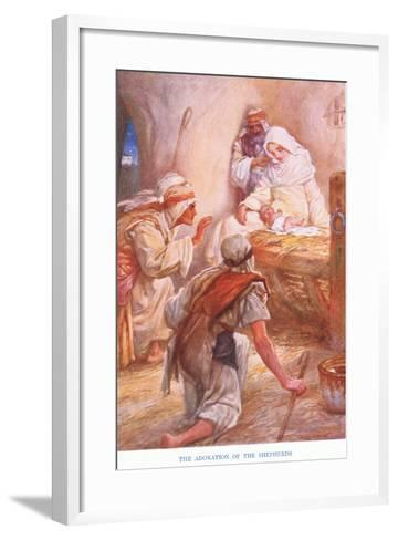 The Adoration of the Shepherds-Arthur A^ Dixon-Framed Art Print