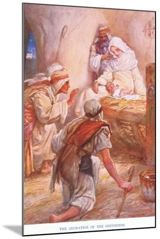 The Adoration of the Shepherds-Arthur A^ Dixon-Mounted Giclee Print