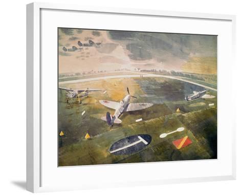R.A.F. Planes on an Airfield-Eric Ravilious-Framed Art Print