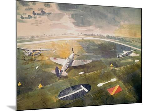 R.A.F. Planes on an Airfield-Eric Ravilious-Mounted Giclee Print