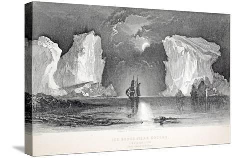 Icebergs Near Kosoak, Life Boat Cove-Elisha Kane-Stretched Canvas Print