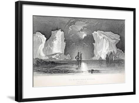 Icebergs Near Kosoak, Life Boat Cove-Elisha Kane-Framed Art Print
