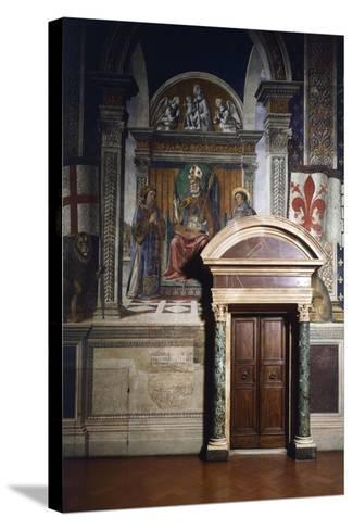 Fresco Details-Domenico Ghirlandaio-Stretched Canvas Print