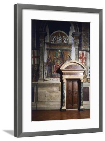 Fresco Details-Domenico Ghirlandaio-Framed Art Print