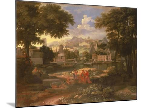 Landscape with Moses Saved from the River Nile-Etienne Allegrain-Mounted Giclee Print