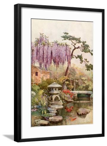 Wistaria in a Kyoto Garden-Ella Du Cane-Framed Art Print