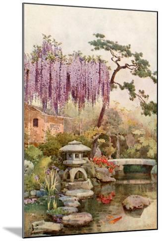 Wistaria in a Kyoto Garden-Ella Du Cane-Mounted Giclee Print