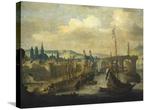 Port of Rouen, Ca 1620-Claude de Jongh-Stretched Canvas Print