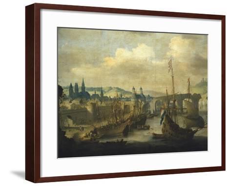 Port of Rouen, Ca 1620-Claude de Jongh-Framed Art Print