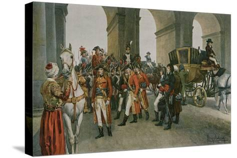 The Consuls Take Possession of the Tuileries-Felicien Baron De Myrbach-rheinfeld-Stretched Canvas Print
