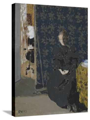 Seated Woman with a Cup of Coffee, 1893-Edouard Vuillard-Stretched Canvas Print