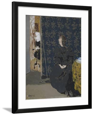 Seated Woman with a Cup of Coffee, 1893-Edouard Vuillard-Framed Art Print