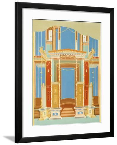 Reproduction of a Fresco from the Atrium of a House, the Houses and Monuments of Pompeii-Fausto and Felice Niccolini-Framed Art Print