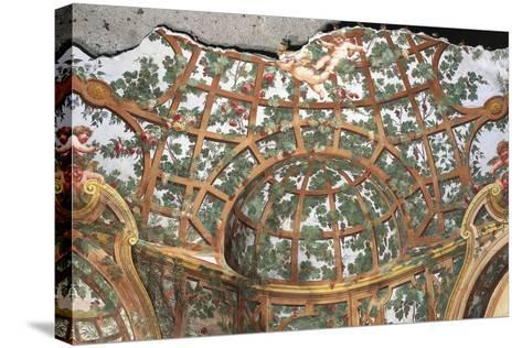 Pergola with Cherubs-Fedele Fischetti-Stretched Canvas Print