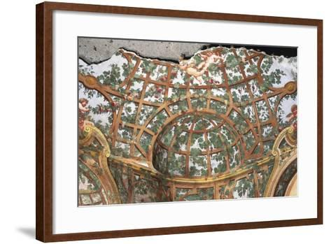 Pergola with Cherubs-Fedele Fischetti-Framed Art Print
