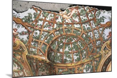 Pergola with Cherubs-Fedele Fischetti-Mounted Giclee Print