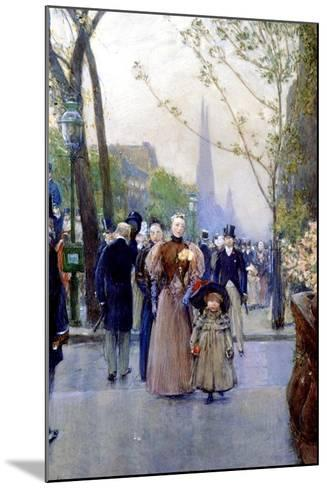 5th Avenue, Sunday, 1890-91-Childe Hassam-Mounted Giclee Print