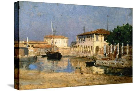 Dock in Venice-Federico Andreotti-Stretched Canvas Print