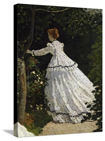 Women in the Garden, Detail-Claude Monet-Stretched Canvas Print