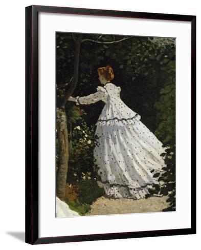 Women in the Garden, Detail-Claude Monet-Framed Art Print