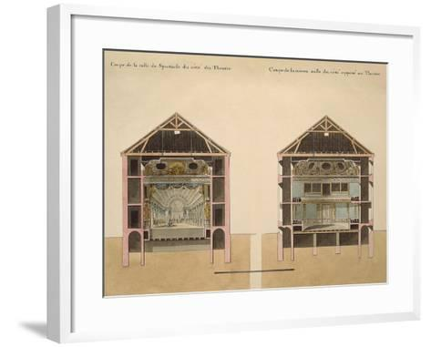 Cross Section of Theatre with Stage and Stalls, 1781-Claude Louis Chatelet-Framed Art Print