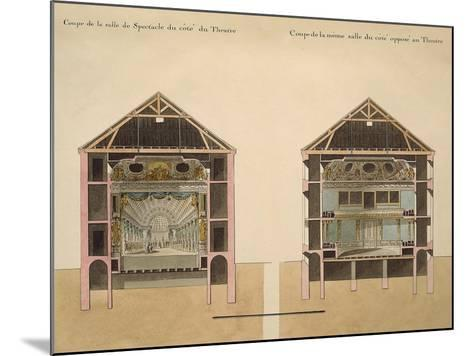 Cross Section of Theatre with Stage and Stalls, 1781-Claude Louis Chatelet-Mounted Giclee Print