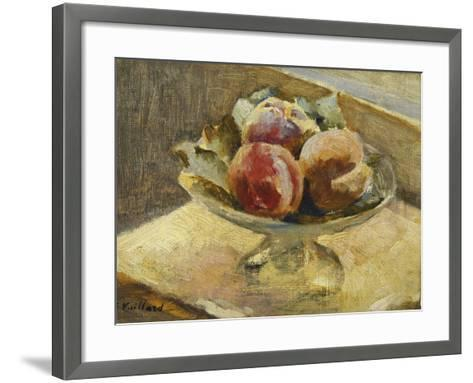 A Bowl of Peaches; Le Compotier De Peches, C.1889-Edouard Vuillard-Framed Art Print