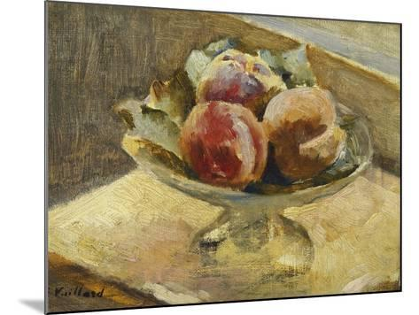 A Bowl of Peaches; Le Compotier De Peches, C.1889-Edouard Vuillard-Mounted Giclee Print