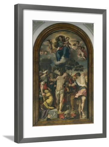 Martyrdom of St. Sebastian, 1558-Federico Fiori Barocci-Framed Art Print