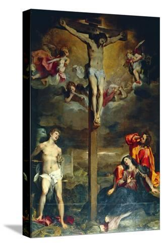 Crucifixion with Virgin and Saints, 1596-Federico Fiori Barocci-Stretched Canvas Print