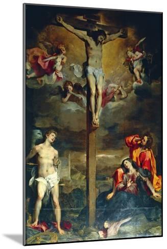 Crucifixion with Virgin and Saints, 1596-Federico Fiori Barocci-Mounted Giclee Print