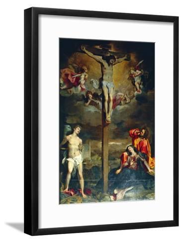 Crucifixion with Virgin and Saints, 1596-Federico Fiori Barocci-Framed Art Print