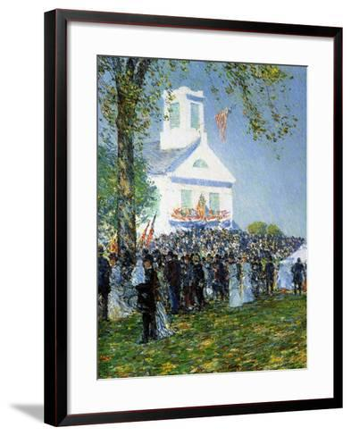 An American Country Fair, 1890-Childe Hassam-Framed Art Print