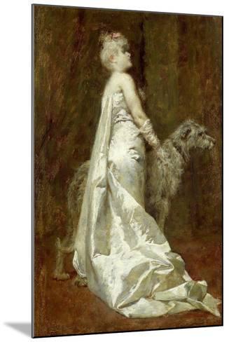 White Dress and Dog-Eugenio Scomparini-Mounted Giclee Print