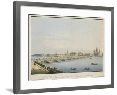 View of St. Isaac's Bridge, the Admiralty and the Winter Palace, St. Petersburg-Christian Gottlob Hammer-Framed Art Print