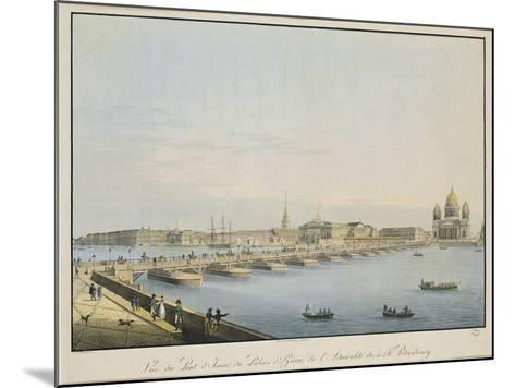 View of St. Isaac's Bridge, the Admiralty and the Winter Palace, St. Petersburg-Christian Gottlob Hammer-Mounted Giclee Print
