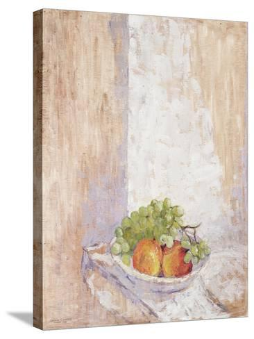 Peaches and Grapes, 1993-Diana Schofield-Stretched Canvas Print